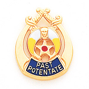 Shriners Past Potentate Tie Tac - 10k Yellow Gold