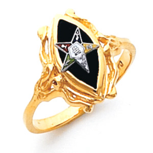 Marquise Eastern Star Ring - 10k Gold