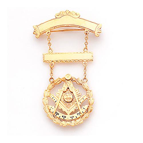 2 3/4in Past Master Masonic Jewel - 10K