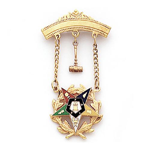 2 1/8in Past Matron Eastern Star Jewel - 10k Gold