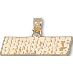 Carolina Hurricanes 1in 14k Logo Pendant