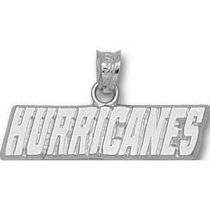 Sterling Silver 1in Carolina Hurricanes Logo Pendant