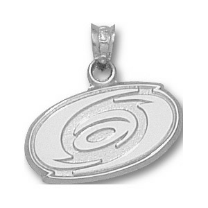 Carolina Hurricanes 5/8in Logo Pendant - Sterling Silver