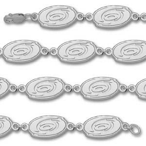 Sterling Silver Carolina Hurricanes Logo Bracelet 7in