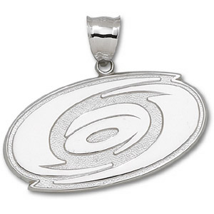 Sterling Silver 1 1/4in Carolina Hurricanes Giant Logo Pendant