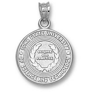 Sterling Silver 5/8in Iowa State University Seal Charm