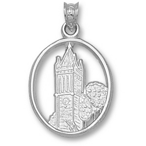Sterling Silver 3/4in Iowa State University Campanile Pendant