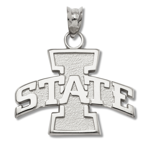 Sterling Silver 5/8in Iowa State Pendant