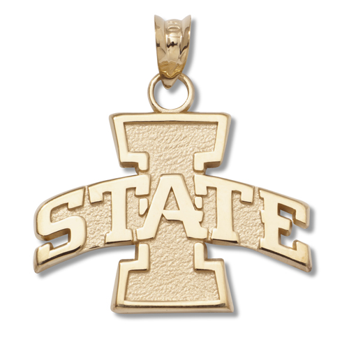 10kt Yellow Gold 5/8in Iowa State Pendant