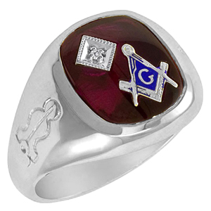 Blue Lodge Ring with Diamond Accent - Sterling Silver