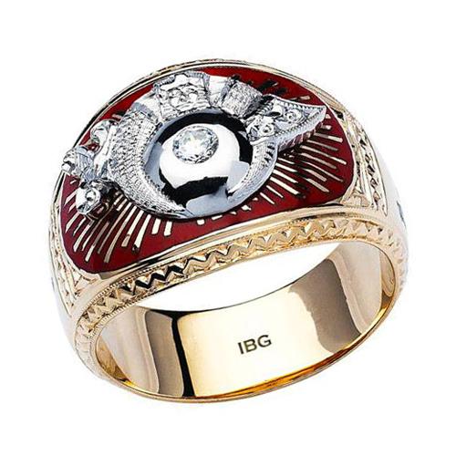 Diamond Shriner Ring - 10k Gold