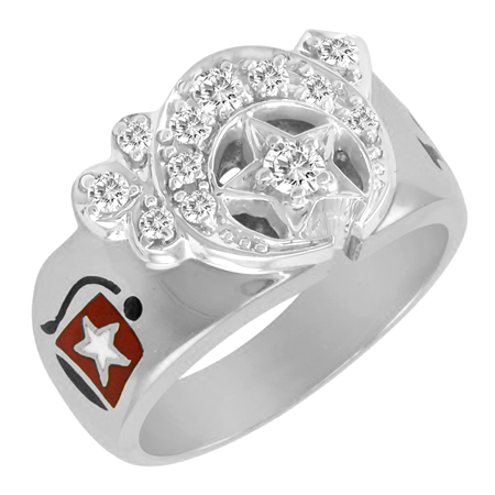 1/2 CT Diamond Shrine Ring - Sterling Silver
