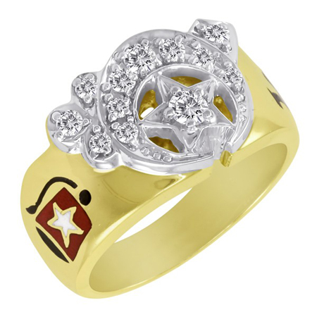 1/2 CT Diamond Shrine Ring - 14k Gold