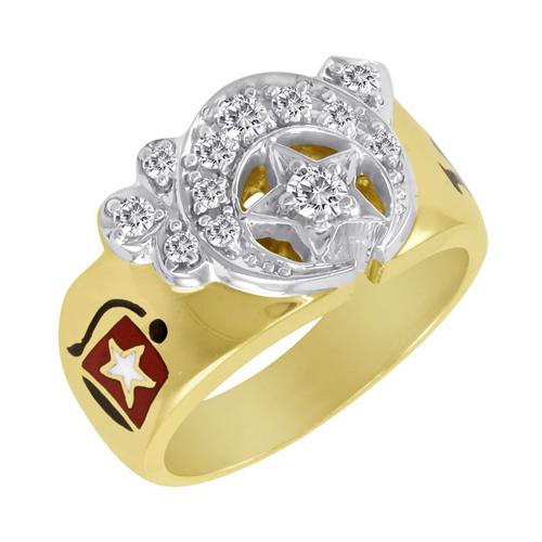 1/2 CT Diamond Shrine Ring - 14k Gold
