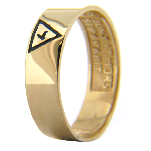 14kt Yellow Gold 6mm Masonic Scottish Rite Band