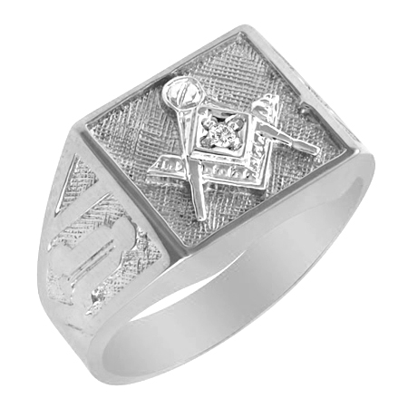 Sterling Silver Blue Lodge Ring with Diamond Accent