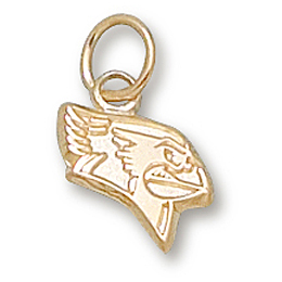 Illinois State 3/8in Pendant 14kt Yellow Gold