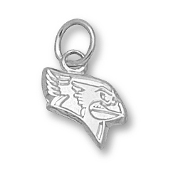 Sterling Silver 3/8in Illinois State Redbird Pendant