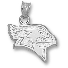 Sterling Silver 5/8in Illinois State Redbird Pendant