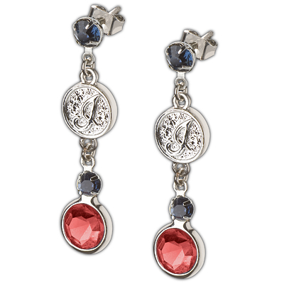 Cleveland Indians Crystal Logo Earrings