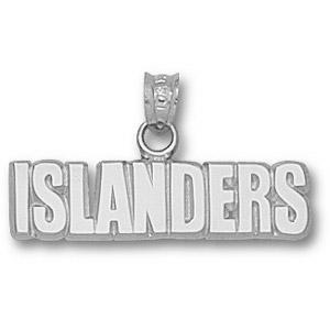 New York Islanders 1/4in Pendant - Sterling Silver