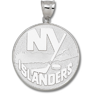 10kt Yellow Gold 1 1/2in New York Islanders Logo Giant Pendant