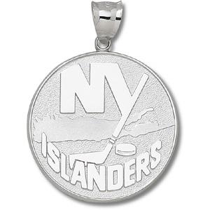 10kt Yellow Gold 1 1/2in New York Islanders Logo Giant Pendant