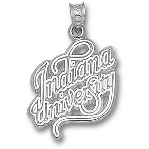 Sterling Silver 3/4in Indiana University Script Pendant