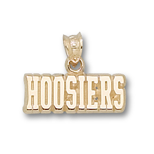 10kt Yellow Gold 1/4in Indiana Hoosiers Pendant