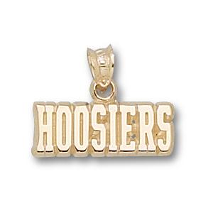 14kt Yellow Gold 1/4in Indiana Hoosiers Pendant