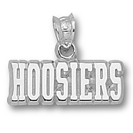 Sterling Silver 1/4in Indiana Hoosiers Pendant