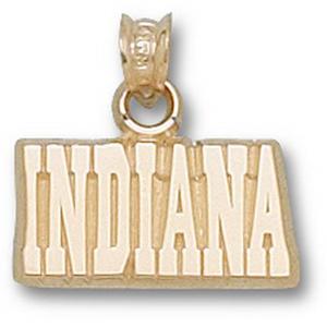Indiana Hoosiers 3/8in 14k Pendant