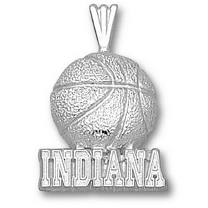 Indiana Hoosiers 3/4in Basketball - Sterling Silver
