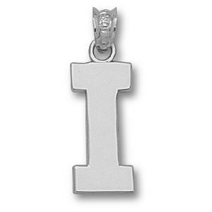 Indiana Hoosiers 5/8in Sterling Silver Block Pendant