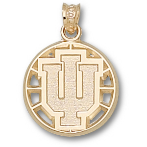 10kt Yellow Gold 5/8in Indiana University Basketball Pendant