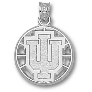 Sterling Silver 5/8in Indiana University Basketball Pendant