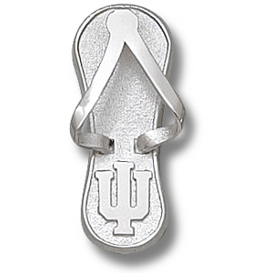 Indiana Hoosiers 1in Sterling Silver Flip Flop Pendant