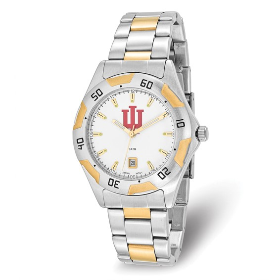 Indiana University Men's All-Pro Two Tone Watch