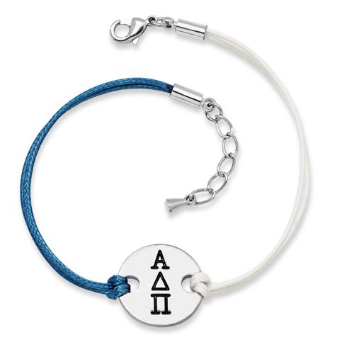 Alpha Delta Pi Alloy Disc Bracelet