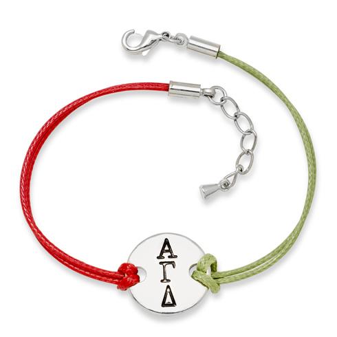 Alpha Gamma Delta Alloy Disc Bracelet