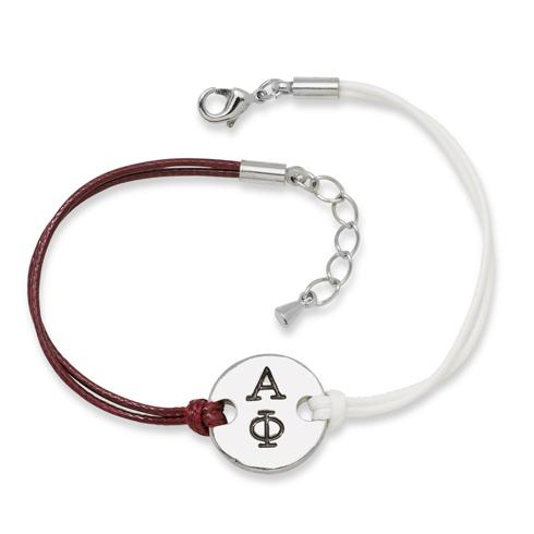 Alpha Phi Alloy Disc Bracelet