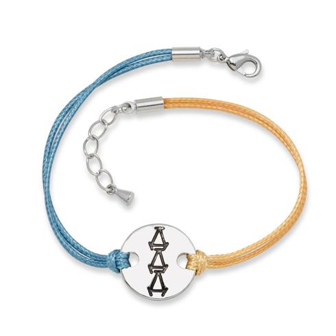 Delta Delta Delta Alloy Disc Bracelet