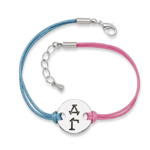 Delta Gamma Alloy Disc Bracelet