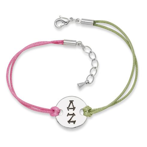 Delta Zeta Alloy Disc Bracelet