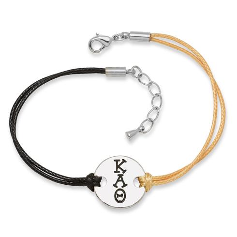 Kappa Alpha Theta Alloy Disc Bracelet