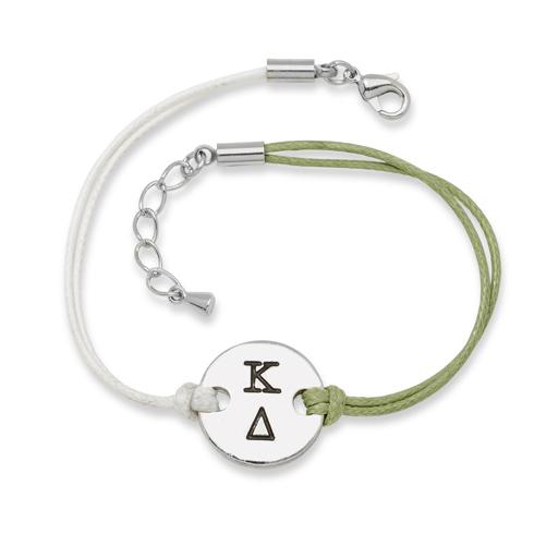 Kappa Delta Alloy Disc Bracelet