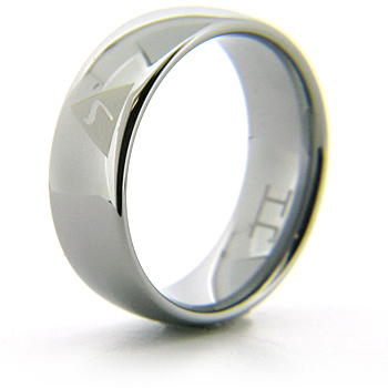 Titanium 8mm Domed Scottish Rite 14th Degree Ring