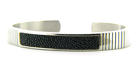 Men's Titanium Bracelet with Stingray Inlay