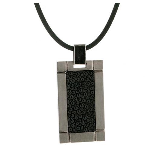 Titanium Pendant with Stingray Inlay