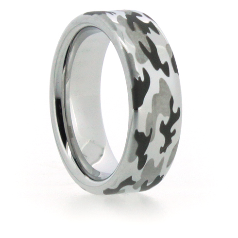 8mm Vitalium Pipe Ring with Camouflage Finish